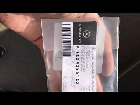 W221 S320 4matic OM642 датчик температуры ОЖ замена