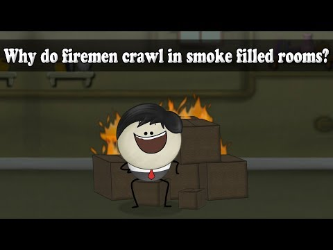 Density - Why do firemen crawl in smoke filled rooms?
