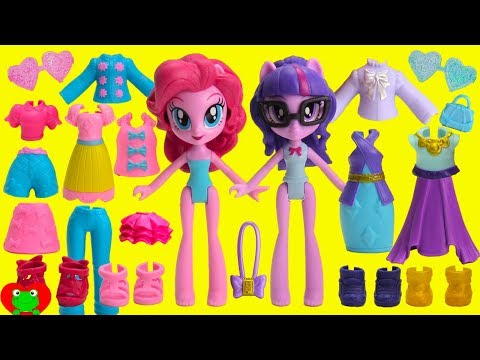My Little Pony MLP Fashion Squad Mix and Match Twilight Sparkle, Pinkie Pie, Rarity