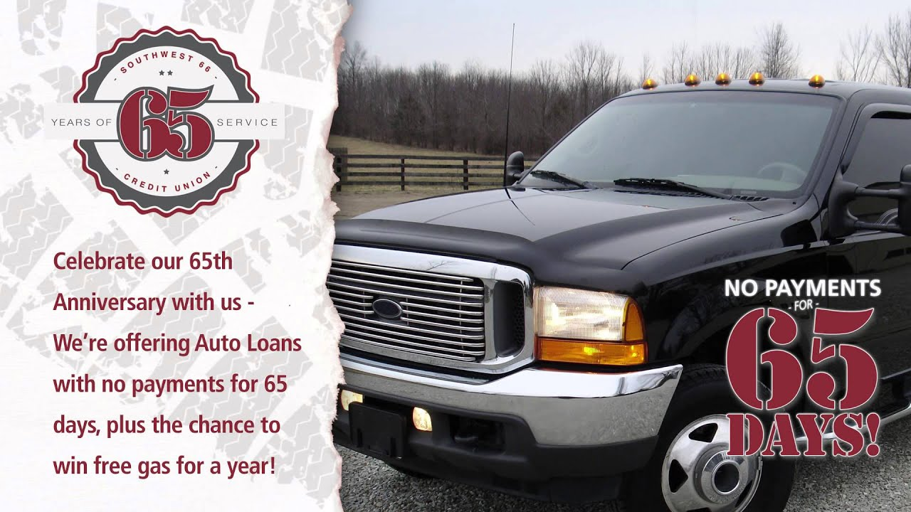 Southwest Auto Credit >> Southwest 66 Credit Union 65th Anniversary Auto Loan Promo