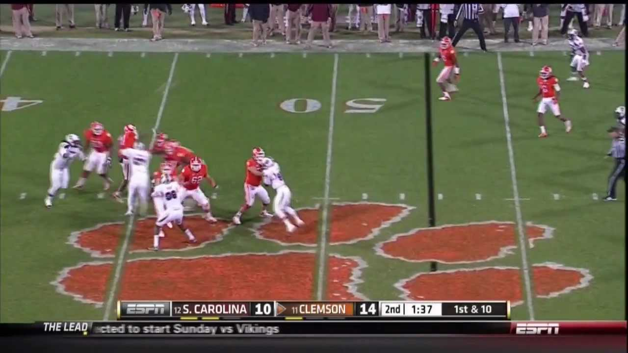 2012 USC vs Clemson - DeVonte Holloman Interception - YouTube
