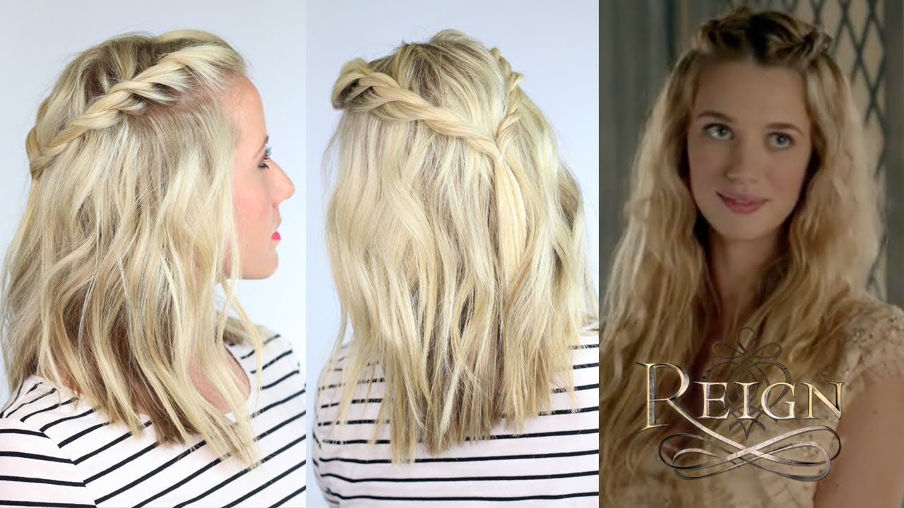 twisted hairstyle inspired by reign