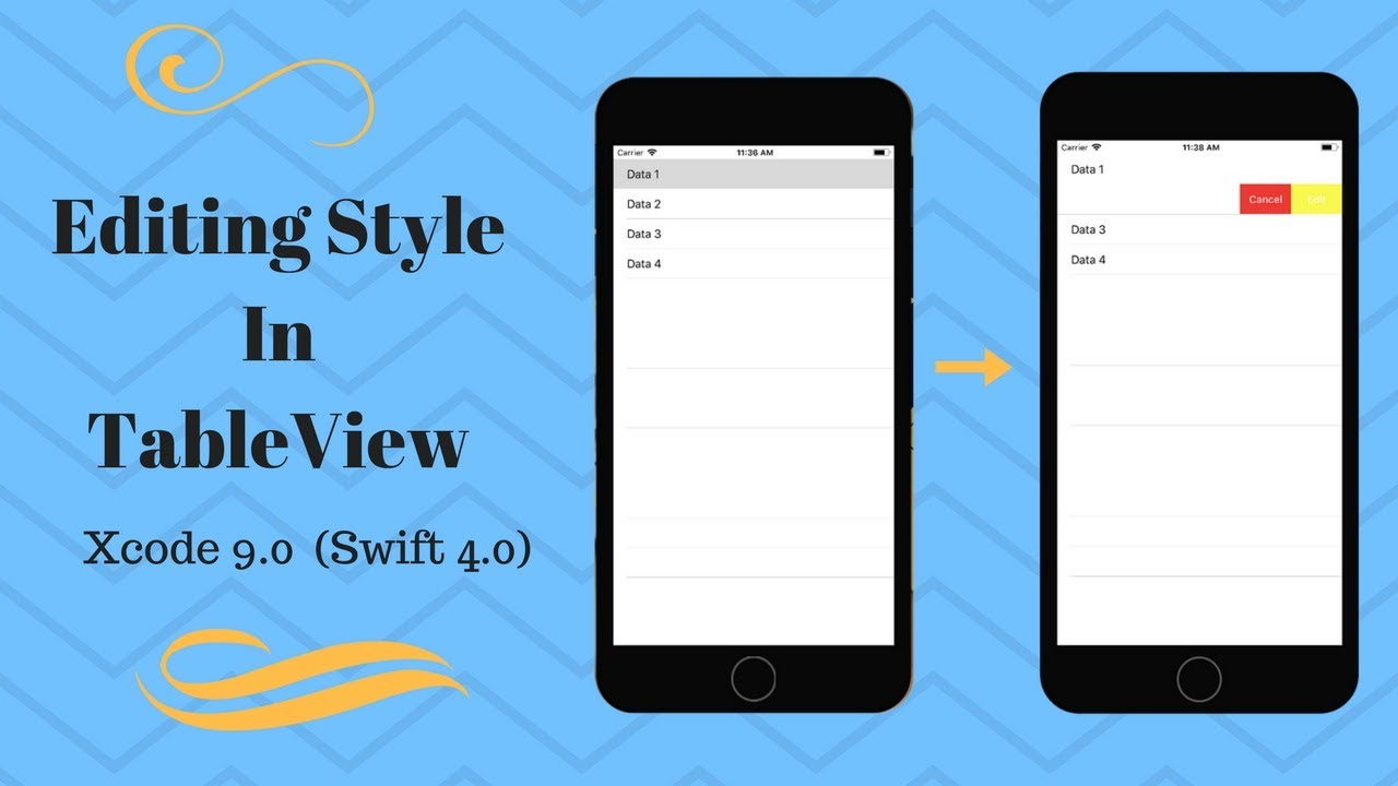 Editing Style in TableView in Xcode9 0 (Swift 4 0)