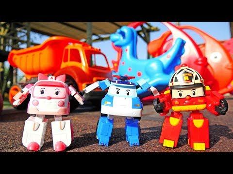 Робокар Поли и его друзья! Детская площадка.