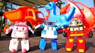 Мультики про машинки: РОБОКАР ПОЛИ 🚓  и его друзья! Детская площадка 👶. #Машинки 🚒 для мальчиков