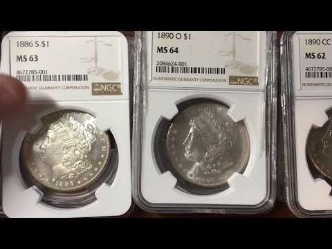 Crackout PCGS Vs NGC Coin Grading - Morgan Silver Dollars, 1889-CC