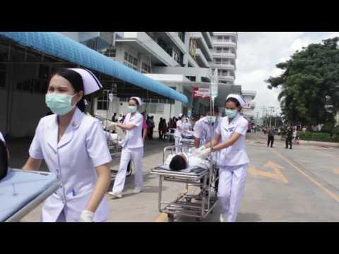 ซ้อมแผนเผชิญเหตุอัคคีภัยโรงพยาบาลร้อยเอ็ด  REHtv 130759  ชุด 2