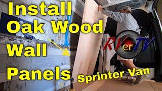 Sprinter van Build Installing Oak Wood Walls - Plumbing Fix