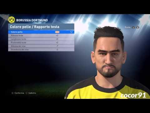 PES 2016 - I. GUNDOGAN Face Build + Stats And Skills -PS4