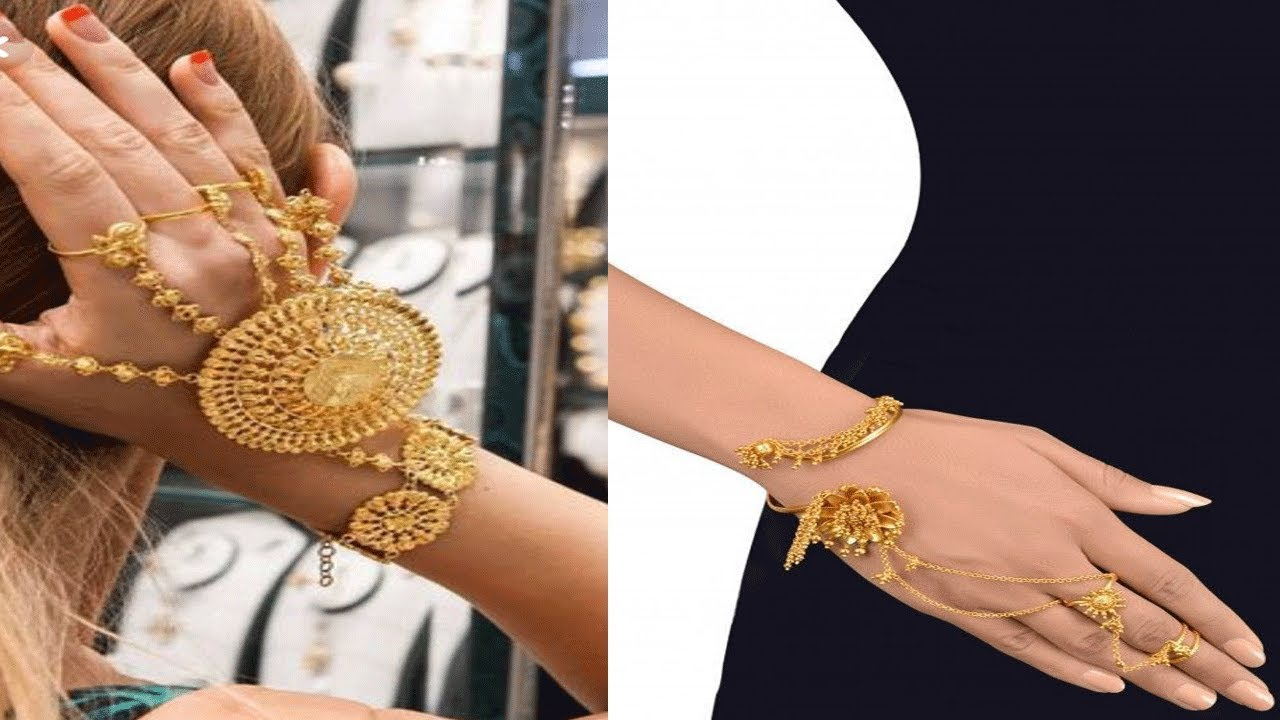 4fb44d65da5ab Latest Beautiful Unique Gold Haath Phool Designs   Gold Hand Bracelets  Jewellery Collections