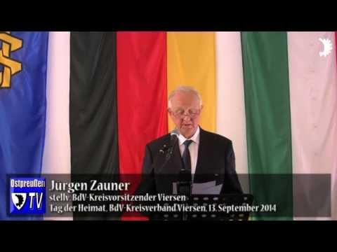 Zauner begrüßt Vertreter der Politik und weitere Ehrengäste zum Tag der Heimat 2014 im Kreis Viersen