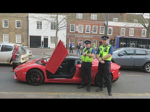 KIDS IN LAMBORGHINI PULLED OVER BY POLICE!