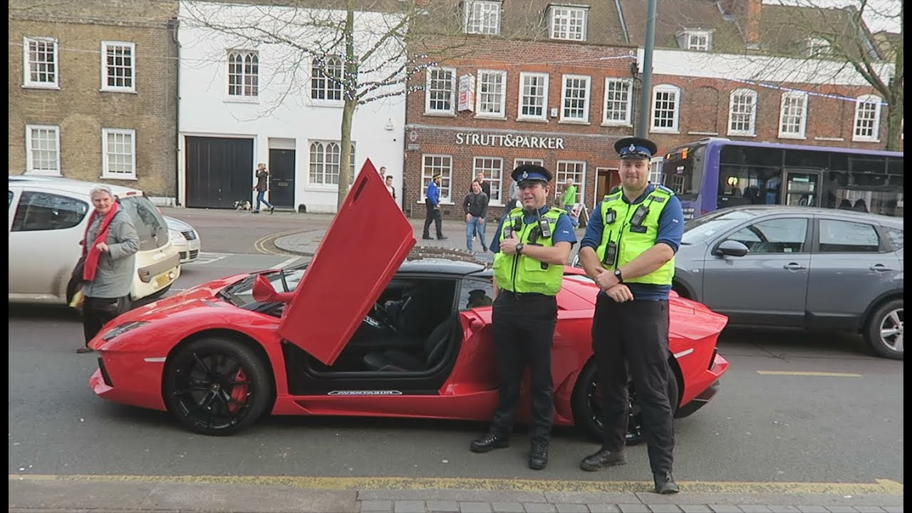 KIDS IN LAMBORGHINI PULLED OVER BY POLICE!   YouTube