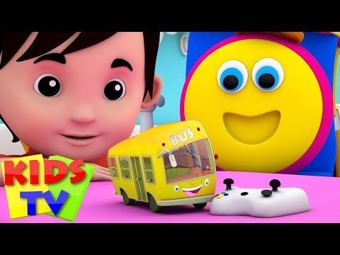 the wheels on the bus go round and round baby songs bob the train Bob Cartoons S03EP13