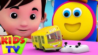 the wheels on the bus go round and round | bus song | baby songs | bob the train | kids tv