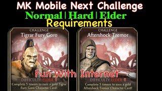 Mortal Kombat Mobile Next Challenge   Tigrar Fury Goro, Aftershock Tremor   Elder Requirements