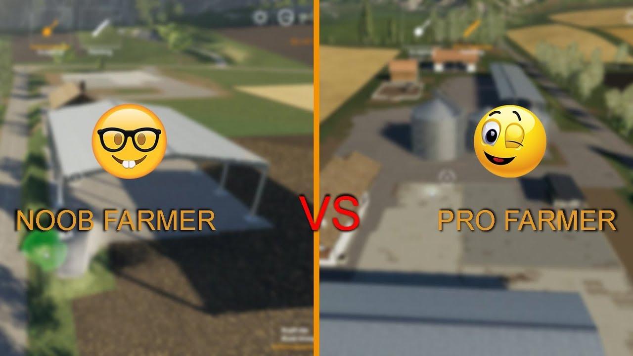 Farming Simulator 19 : NOOB Farmer vs PRO Farmer / Gameplay Comparison