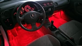 LED Footwell/Floor Lighting That Fades To Dome Light/Door Sensor On A 2002 RSX