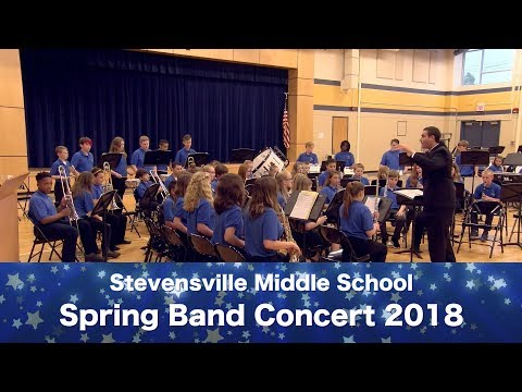 Stevensville Middle School Band Spring Concert 2018