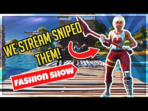 I STREAM SNIPED FASHION SHOWS WITH MY FRIENDS