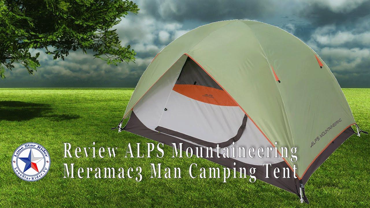 Review ALPS Mountaineering Meramac 3 Man C&ing Tent & Review ALPS Mountaineering Meramac 3 Man Camping Tent - YouTube