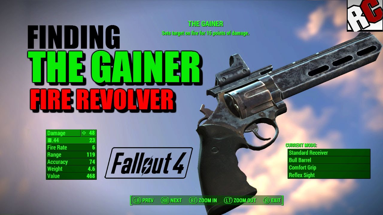 The gainer fallout 4 code