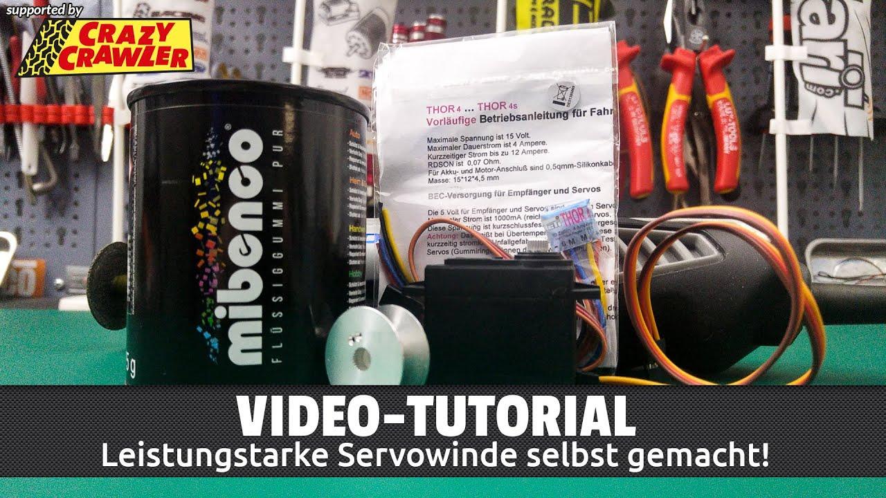 Servo Seilwinde selber bauen für Scale-Crawler (Deutsch / HD) - YouTube