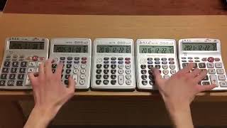 Funny Mozart's ''Turkish March'' On a Calculators