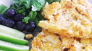 Легко готовить нежный и вкусный завтрак/Омлет с морковью и кукурузой/Звуки Кухни