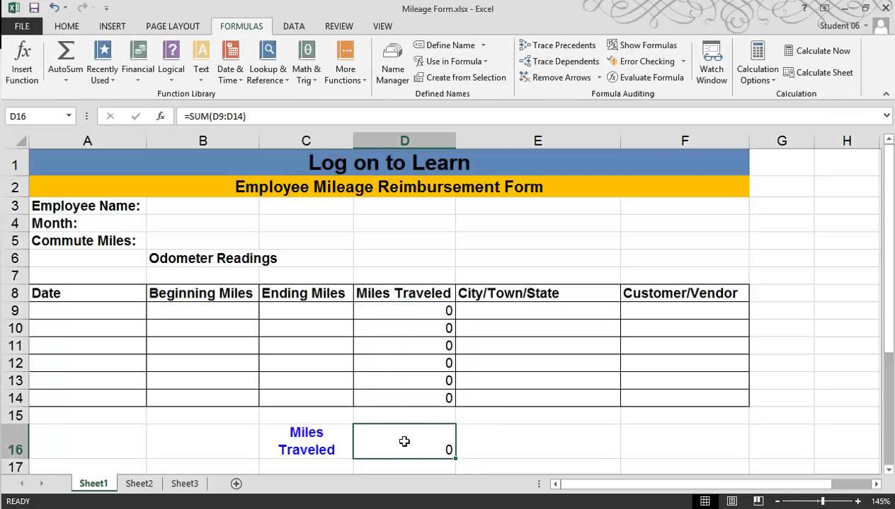 excel 2013 creating an excel template youtube