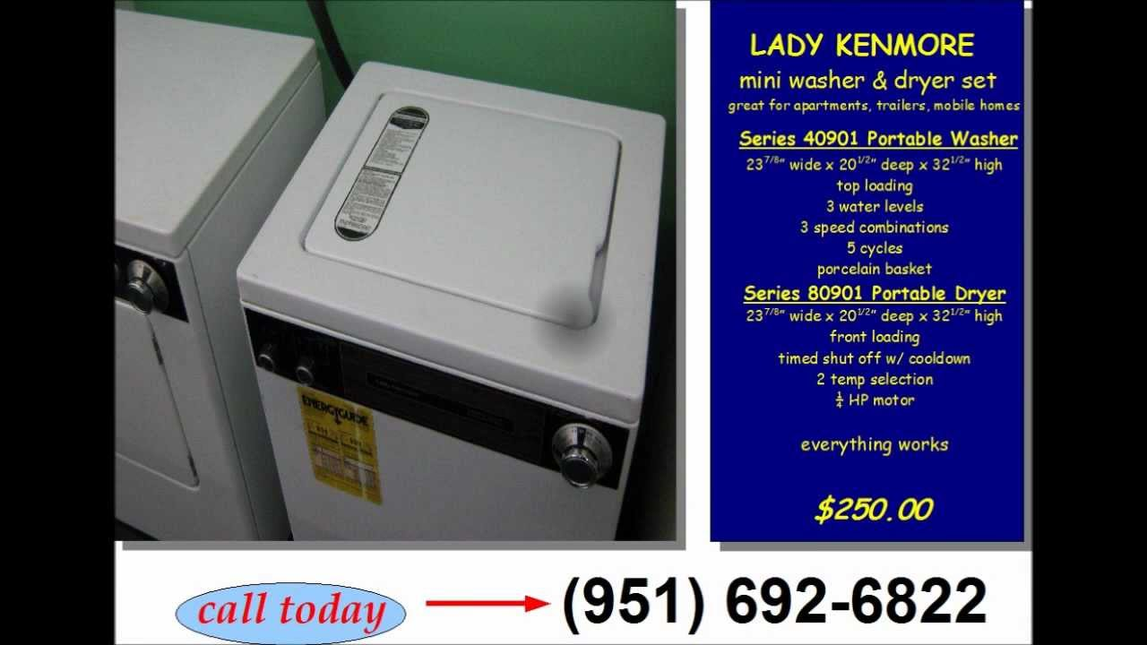Lady Kenmore mini portable washer and dryer set - YouTube
