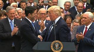 Trump, GOP leaders celebrate health care win