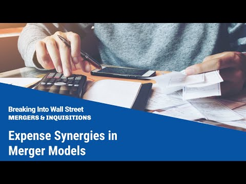 Expense Synergies in Merger Models