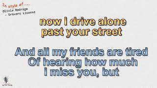 Olivia Rodrigo - Drivers License (Explicit) - Instrumental und Karaoke