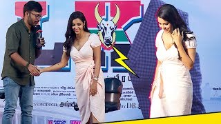 "Priya Anand Bold Look & RJ Balaji Naughty Behaviour"" | @LKG Press Meet!"