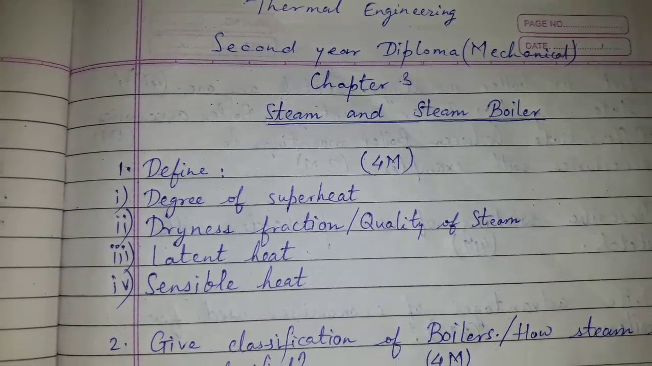 nd year mechanical diploma thermal engg steam steam boiler  2nd year mechanical diploma thermal engg steam steam boiler question bank
