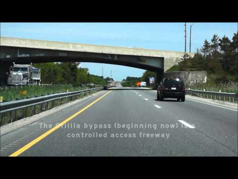 Ontario Highway 11 between Barrie and north of Orillia