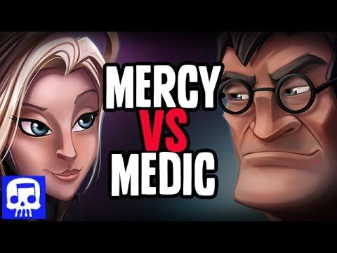 Mercy VS Medic Rap Battle LYRIC VIDEO by JT Machinima