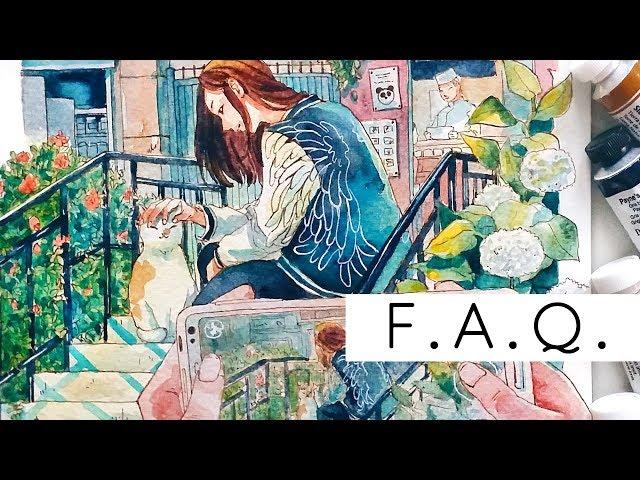 F.A.Q - my age, art schools, inspiration, etc