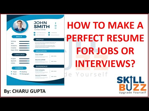 How To Make A Perfect Resume Cv For Jobs And Colleges Tips For