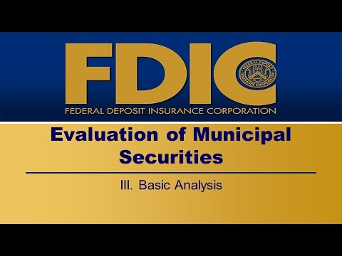 Municipal Securities - Basic Analysis