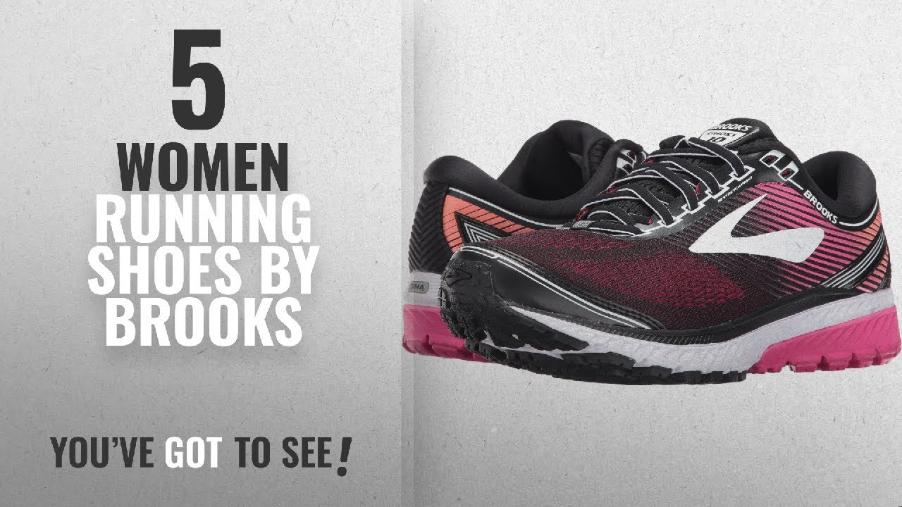 61f22f0df8e Top 5 Brooks Women Running Shoes  2018   Brooks Women s Ghost 10 Black Pink  Peacock Living Coral 8.5