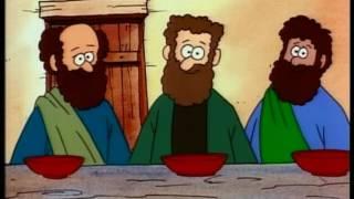 jezus - het verhaal van Pasen - de kruisiging en opstanding - tekenfilm
