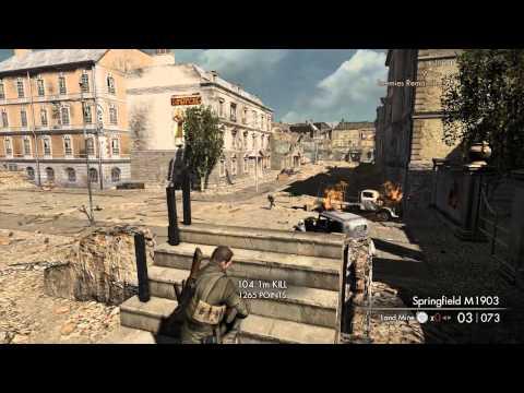 Sniper Elite V2 - Kill Tally - Schöneberg Streets - Elite Difficulty