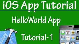 Free iPhone iPad Application Development Tutorial 1 - Hello World in App in iOS