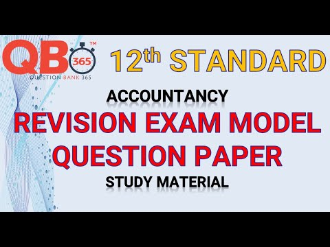 TN   12th Standard Accountancy Revision Model Question Paper 2020 With Answer Key