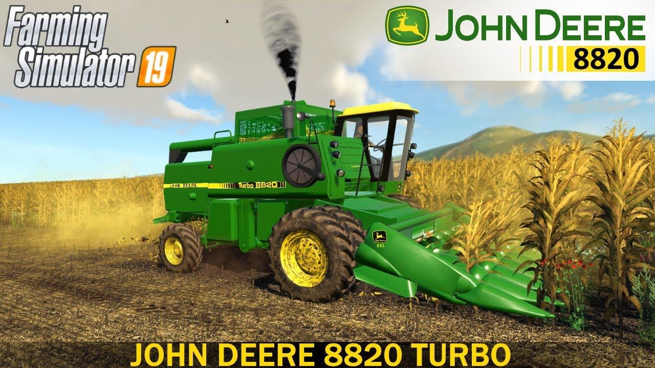 Farming Simulator 19 - JOHN DEERE 8820 TURBO Corn Harvest