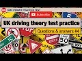 UK driving theory test: practice questions and answers #4