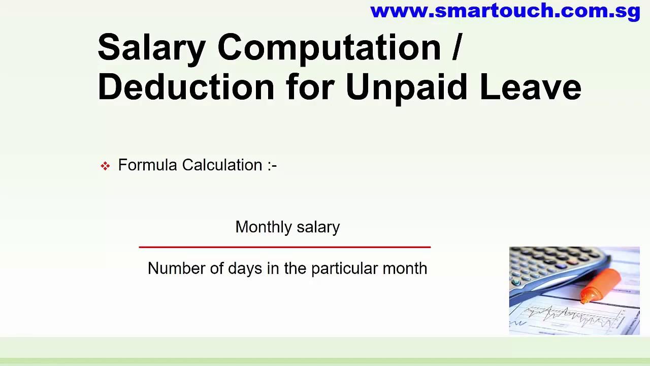 payroll malaysia   salary computation or deduction for
