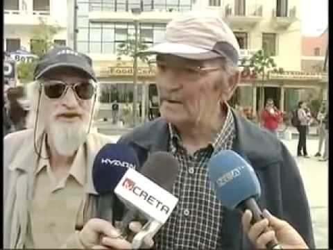 Old man interrupts interview with animal noise